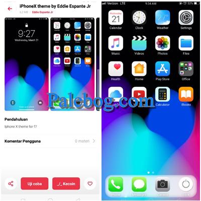 Download Tema Iphone X Untuk Oppo A5s Palebog Iphone Aplikasi Smartphone