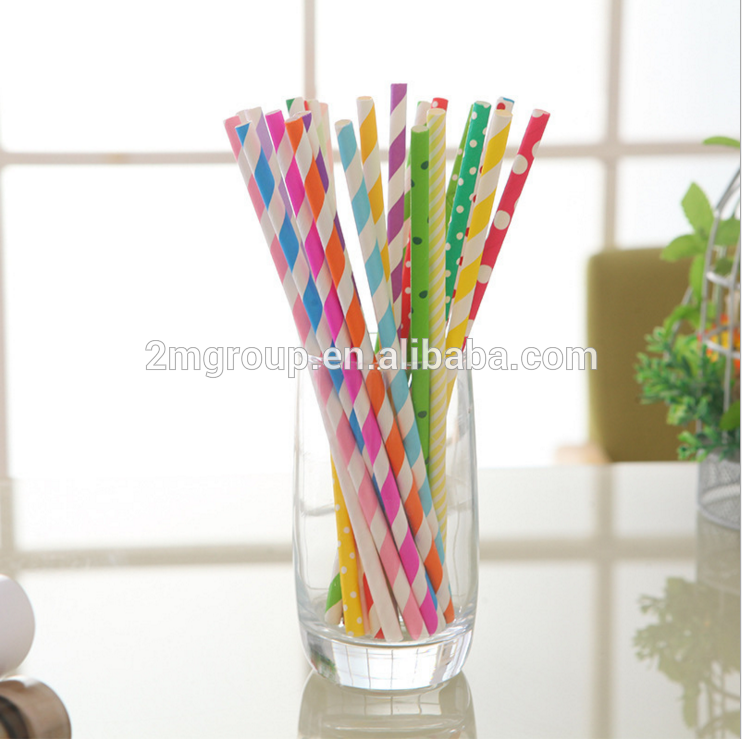 China Hot Selling Customized Disposable Paper Wrapped Drinking Straws