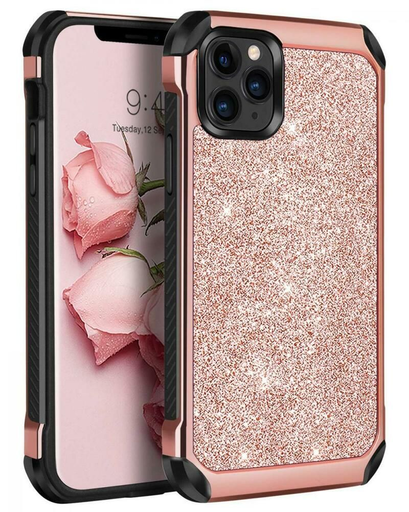 Iphone 11 pro max 65 case glitter dual layer sparkly