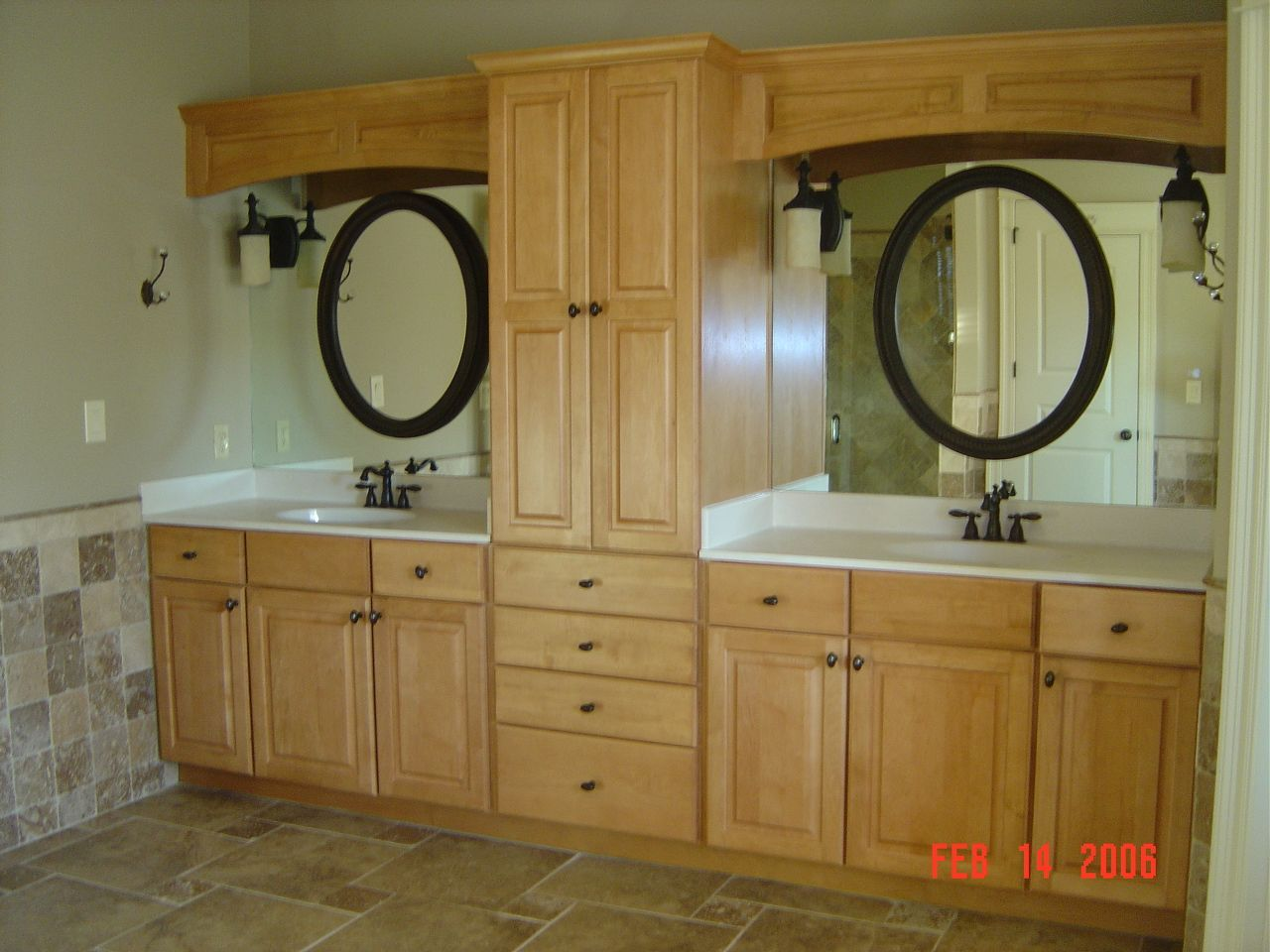 Before pic of a bathroom remodel these ladies do amazing work