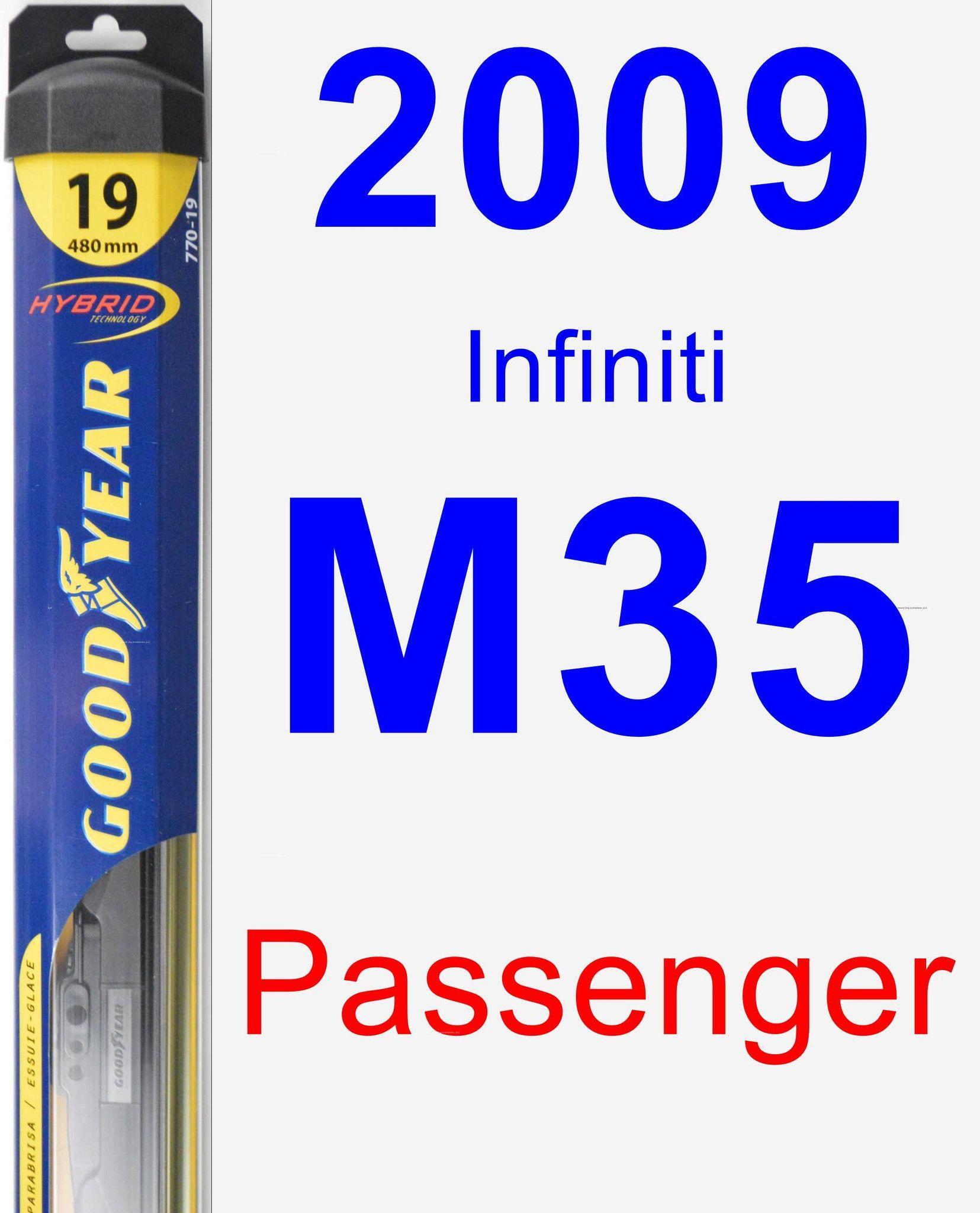 Passenger Wiper Blade for 2009 Infiniti M35 - Hybrid