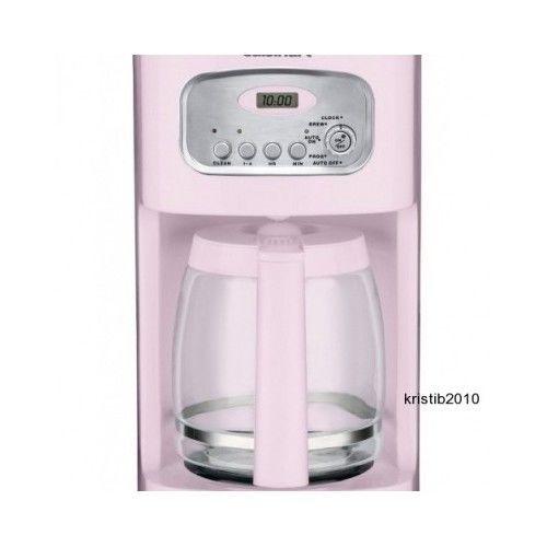 Pink Coffee Maker Automatic Coffeepot Stainless Steel Breakfast Programmable #Cuisinart