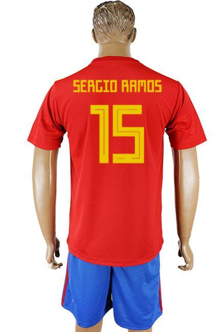 4e5b7b6335b 2018 Spain World Cup Kit #15 | Spain World Cup 2018 Jersey