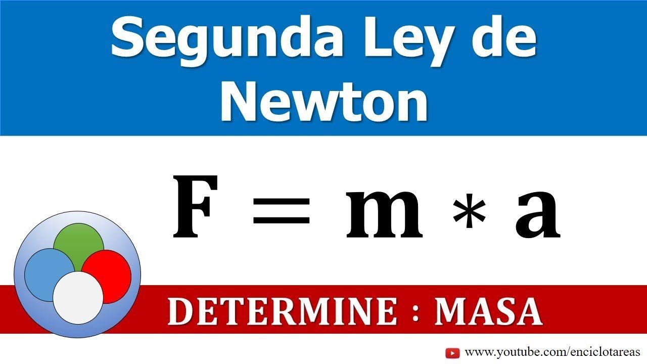 Segunda Ley De Newton Determine La Masa Leyes De Newton Fisica Formulas Trucos Matematicos