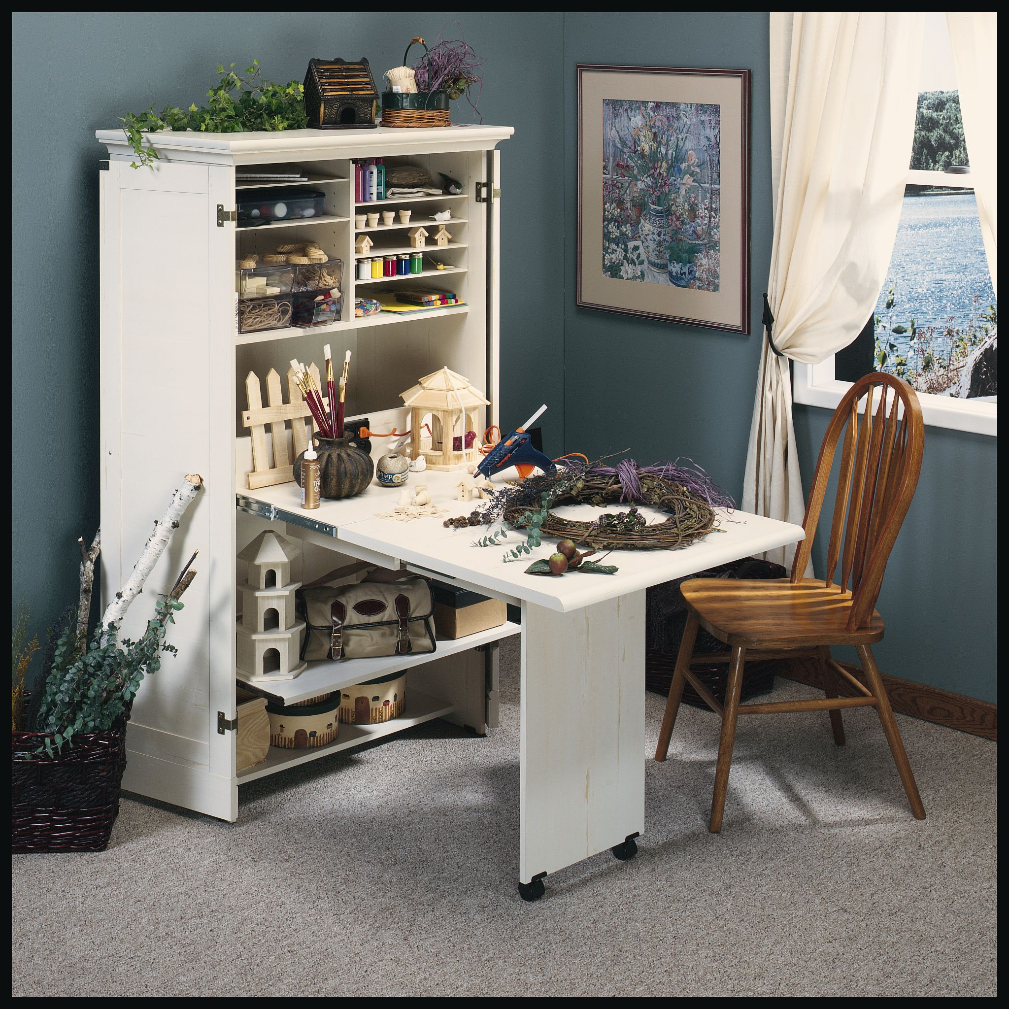 Arts Crafts Sewing Craft Armoire Craft Room Furniture Armoire Storage