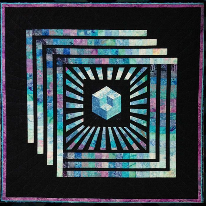Magic Cube Quilt Pattern KWA-5005 | Quilted Wall Hangings