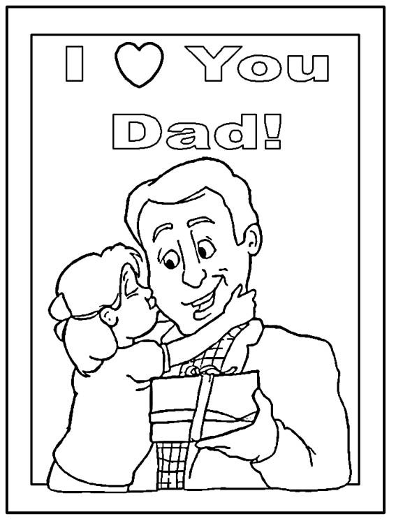 Fatheru0027s Day Coloring Sheet cricut Pinterest - new coloring pages i love you daddy
