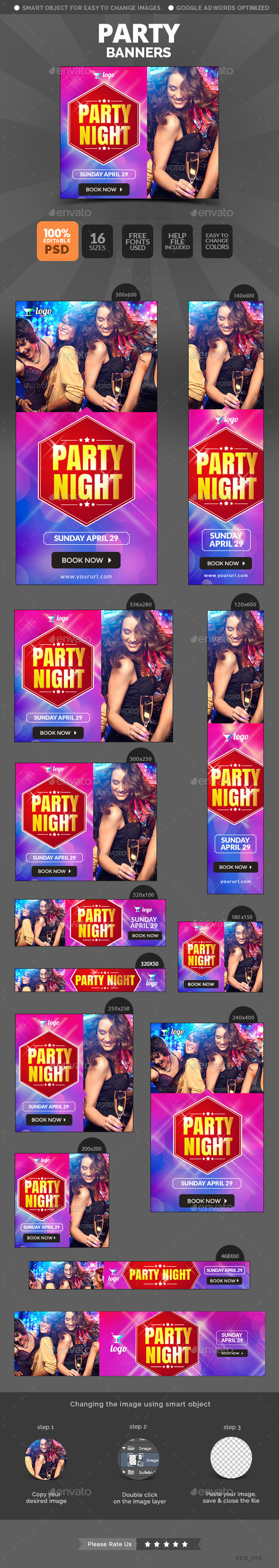 Party Web Banners Template