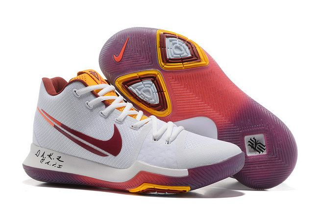 Nike Kyrie 3 Shop with Confidence Nike Kyrie 3 White Flip The Switch  Basketball Shoe Kyrie