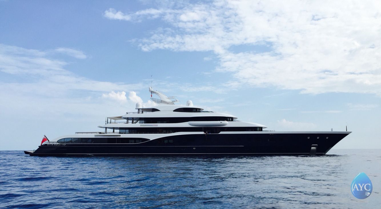 102m Superyacht from Feadship, M.Y.Symphony spotted outside Monaco