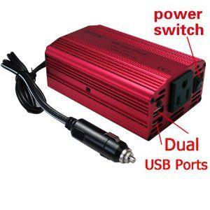 Bestek 300W Power Inverter Car Dc 12V To 110V Ac Adapter Laptop Charger Notebook