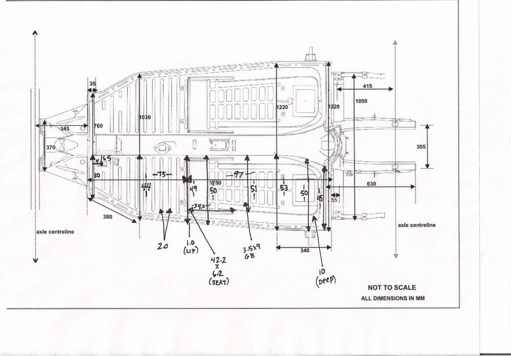 vw beetle chassis dimensions