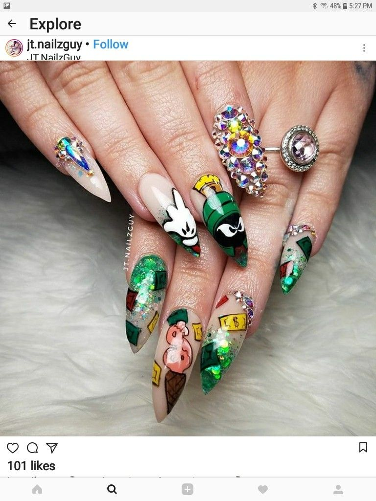 Pin by Kyana Rodriguez on Nails | Pinterest | Stiletto nail art