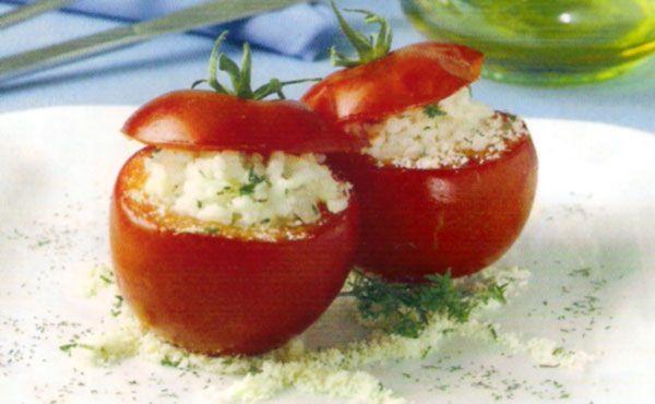 Receta de Tomates rellenos de arroz al parmesano en http://www.recetasbuenas.com/tomates-rellenos-de-arroz-al-parmesano/ Aprende a cocinar unos ricos tomates rellenos de arroz al queso parmesano de forma fácil y rápida. Una forma muy original de preparar los tomates rellenos.  #recetas #Ensaladas #tomates