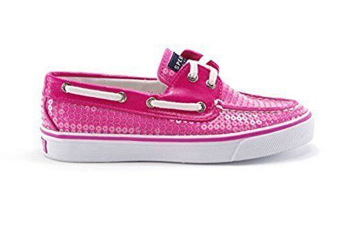 Sperry Top Sider Women's Pink Sequins Bahama Boat Shoe