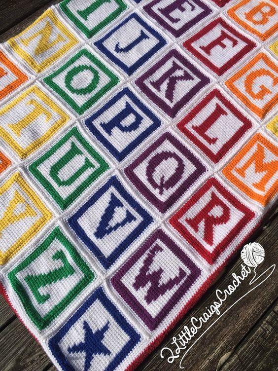 Crochet Alphabet Graph Crochet Alphabet Pattern Abc Baby Blanket