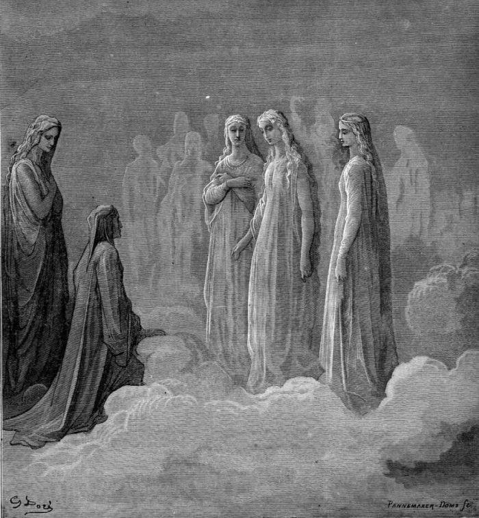 Gustave Doré (Illustrations of Divine Comedy – Heaven — Ilustraciones para La Divina Comedia – Paraíso) | La Exuberancia de Hades