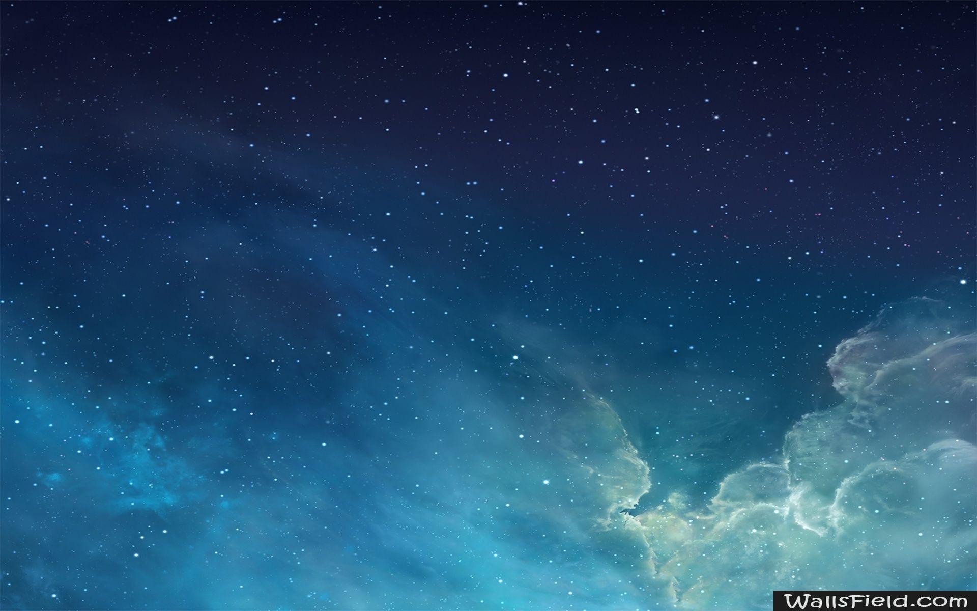 Ios 7 Galaxy Wallsfield Com Free Hd Wallpapers Hd Wallpaper Desktop Galaxy Wallpaper Blue Sky Wallpaper