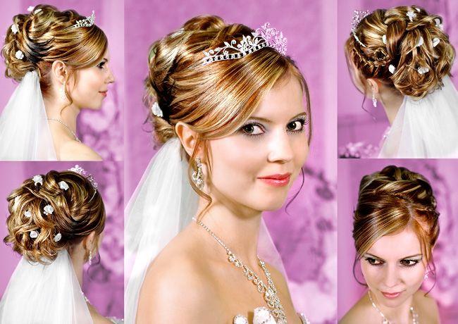 Brautfrisuren mit Diadem  Friseur in Lippstadt  Wedding