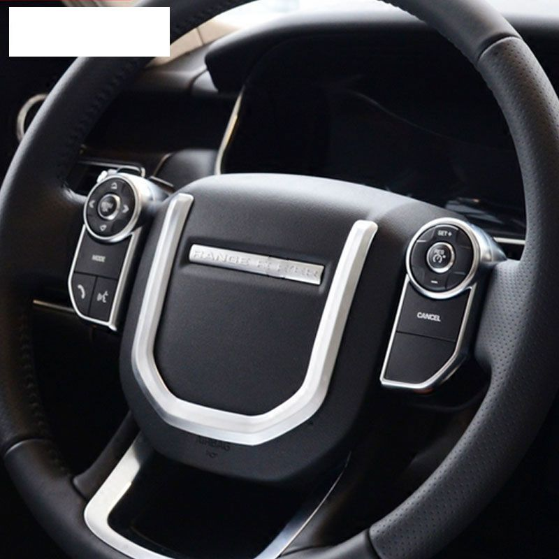 ABS Chrome Steering Weel Sequins Trim For Landrover Range