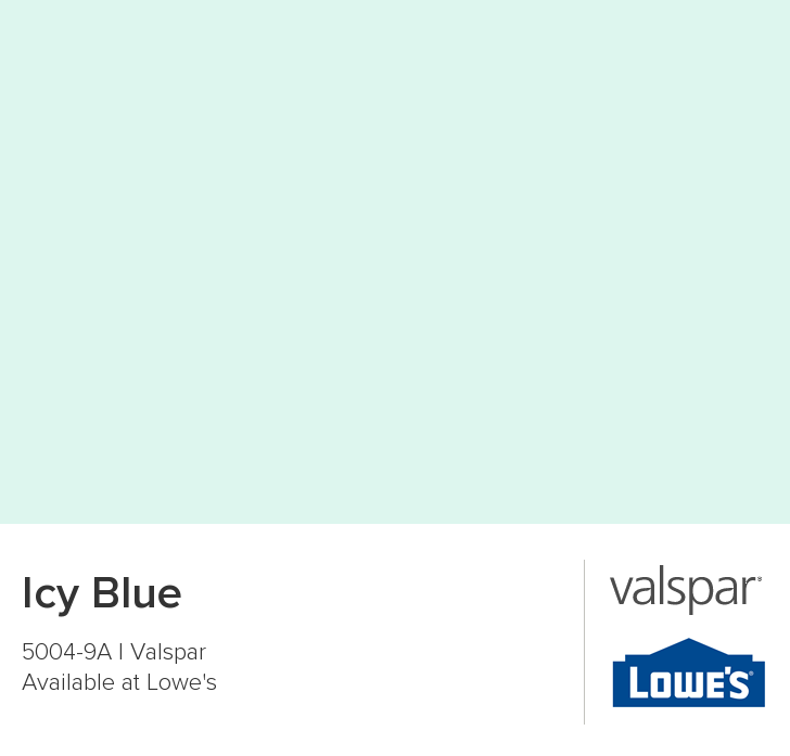 Valspar Paint Color Chip Icy Blue Valspar Paint Colors Mint Paint Colors Color Chip