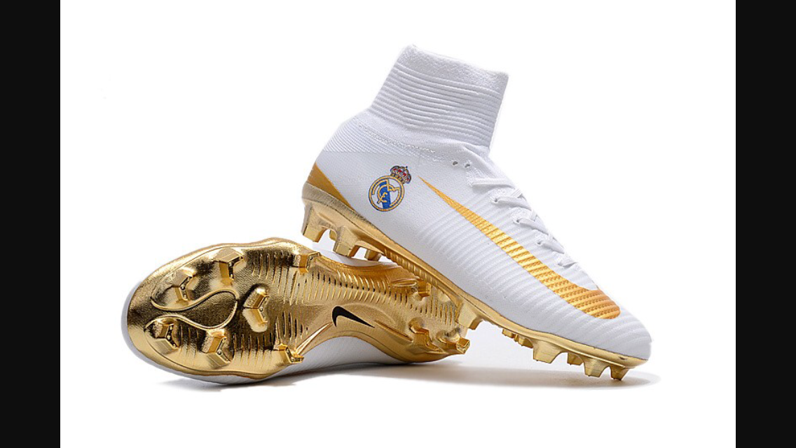 34c1835d6630 Real Madrid Golden $100 Cleats Soccer Cleats, Real Madrid, Soccer Shoes,  Football Shoes