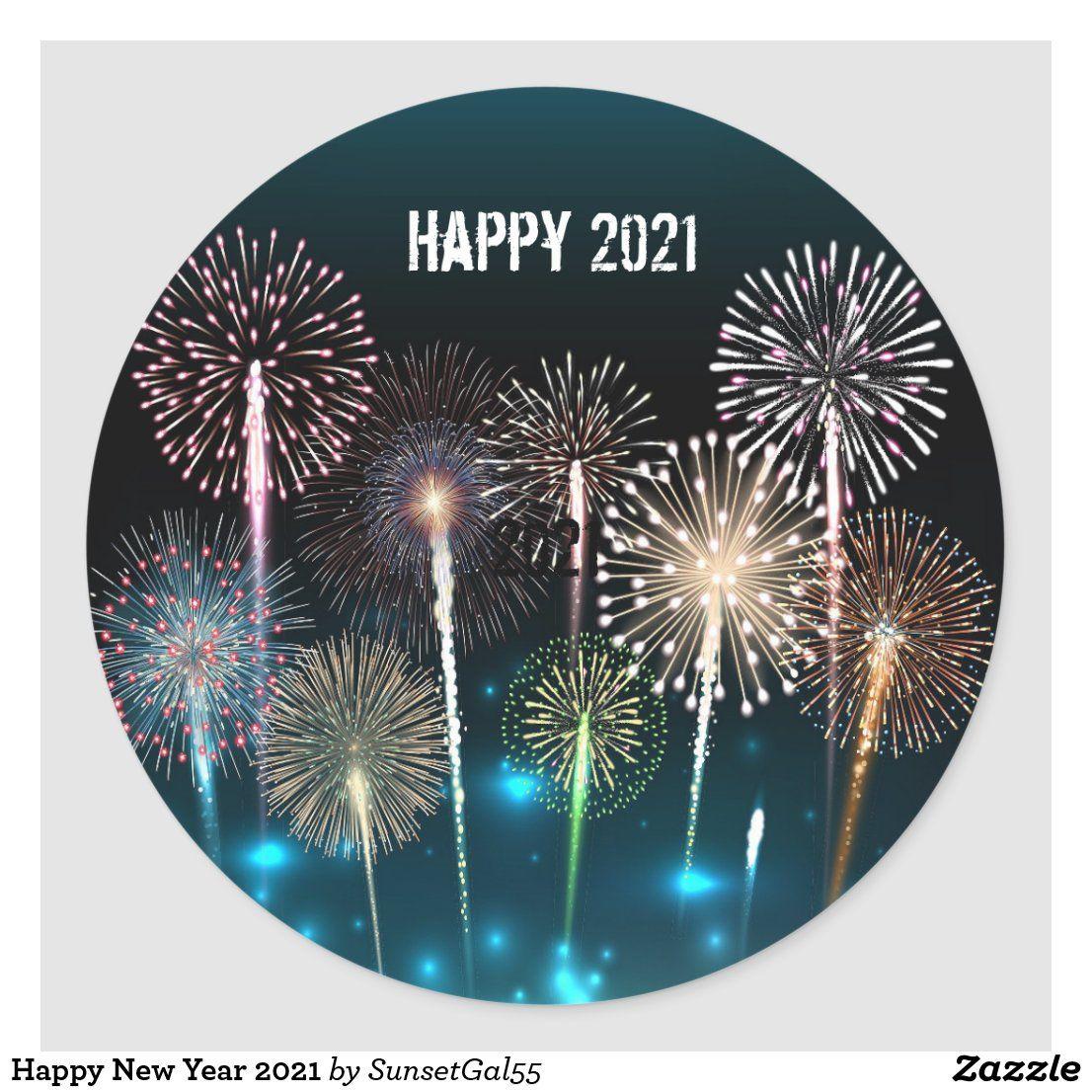Happy New Year 2021 Classic Round Sticker Zazzle Com In 2020 Happy New Year Cards Happy New Year Happy New Year Greetings 2021 happy new year christmas ball