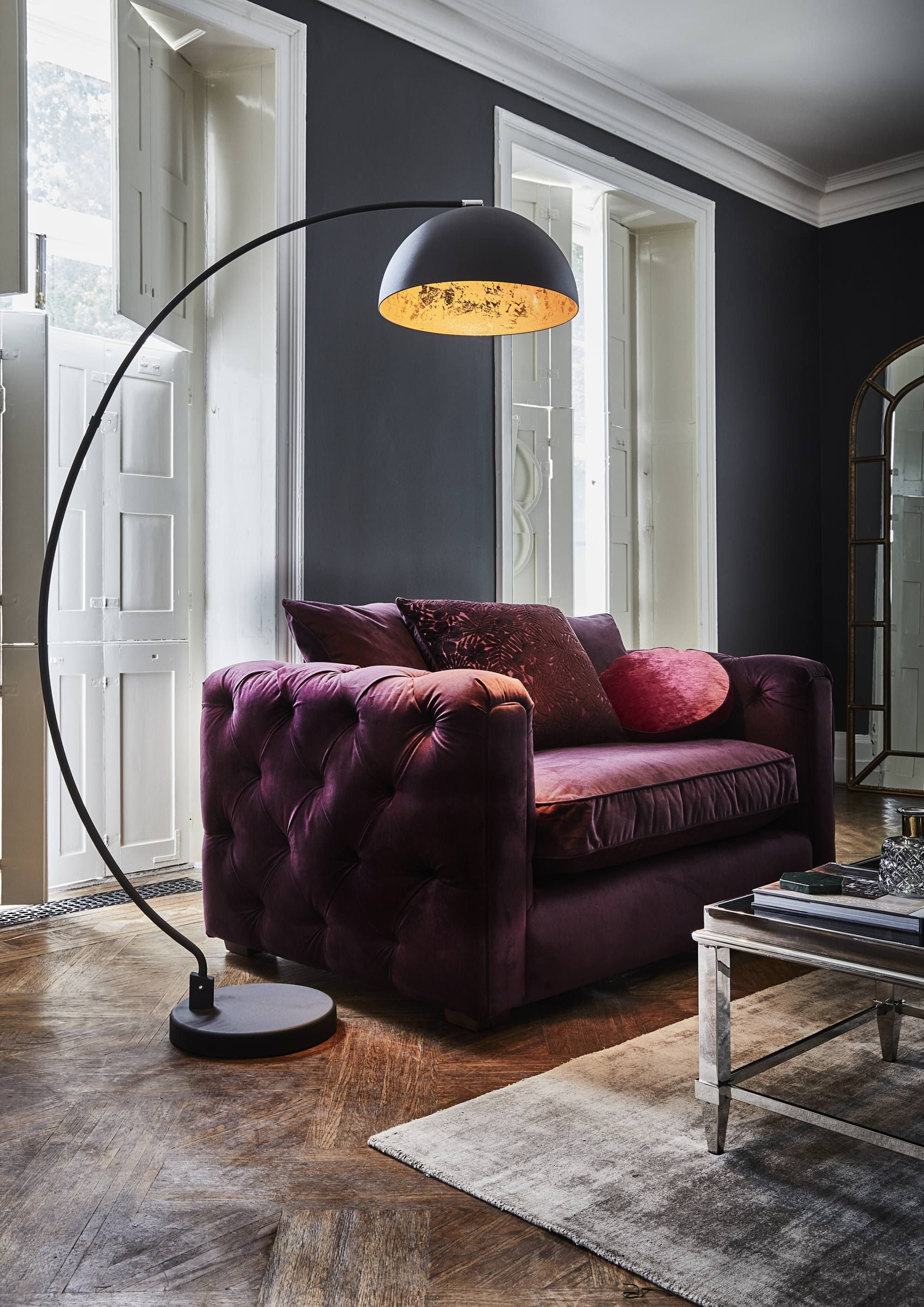 Add A Statement Look To Your Living Room With This Curved Black Floor Lamp Decorative Floor Lamps Beautiful Floor Lamps Black Floor Lamp