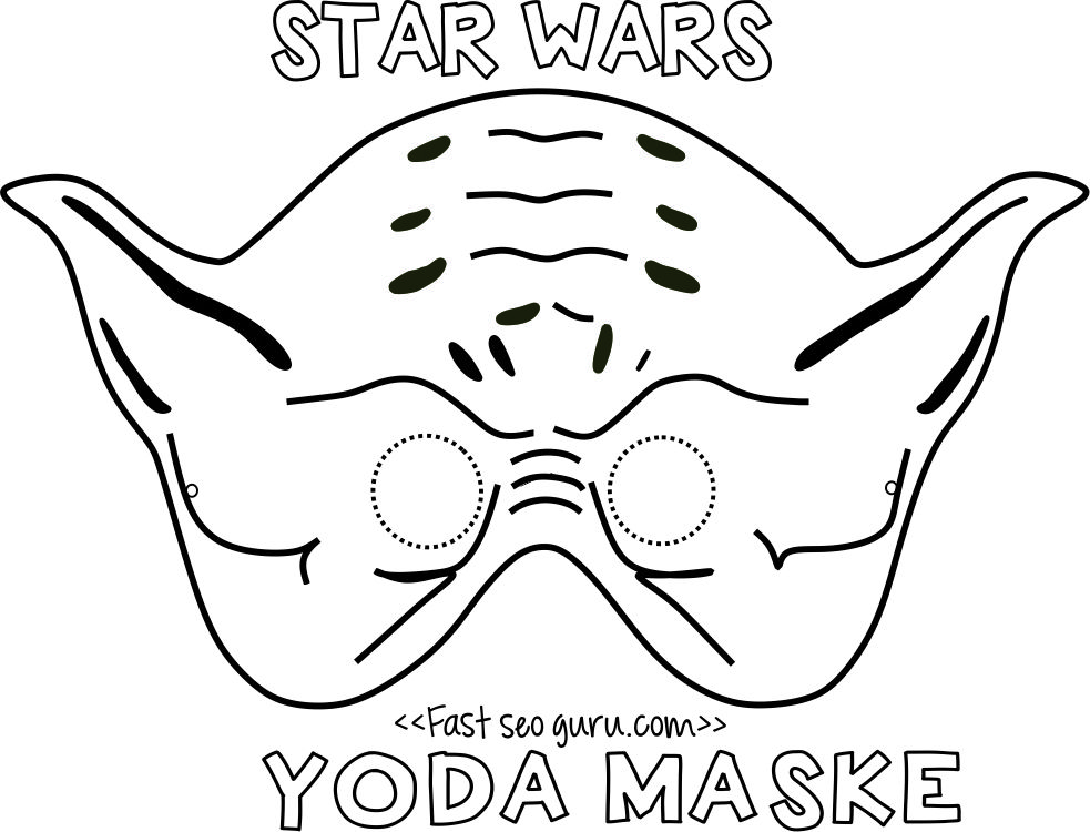 printable star wars yoda mask template for kidsjpg (983×750 - printable mask template