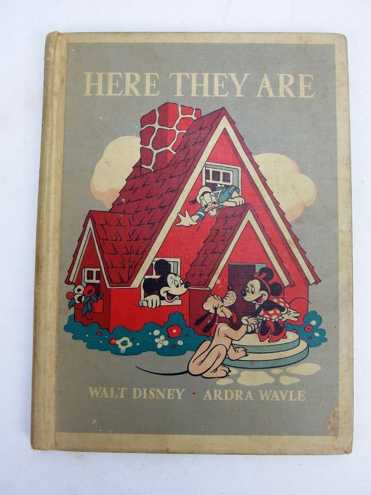 1940 Here They Are Walt Disney Mickey Mouse Book   eBay