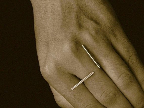 'Square Lines' Ring
