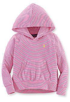 94965d28706 Ralph Lauren Childrenswear Easy Striped Hoodie Girls 4-6x belk ...