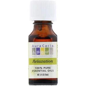 Aura Cacia ピュアエッセンシャルオイルブレンド リラクゼーション 15ml 0 5液量オンス 100 Pure Essential Oils Relaxing Essential Oil Blends Pure Essential Oils