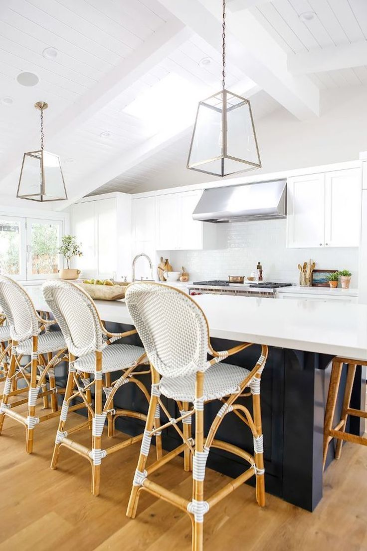 French bistro chairs at kitchen island 12
