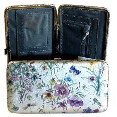 brand new 212fc 43f50 Women's Flat Opera Hard Case Hinge Clutch Wallet Women's Flat Opera ...
