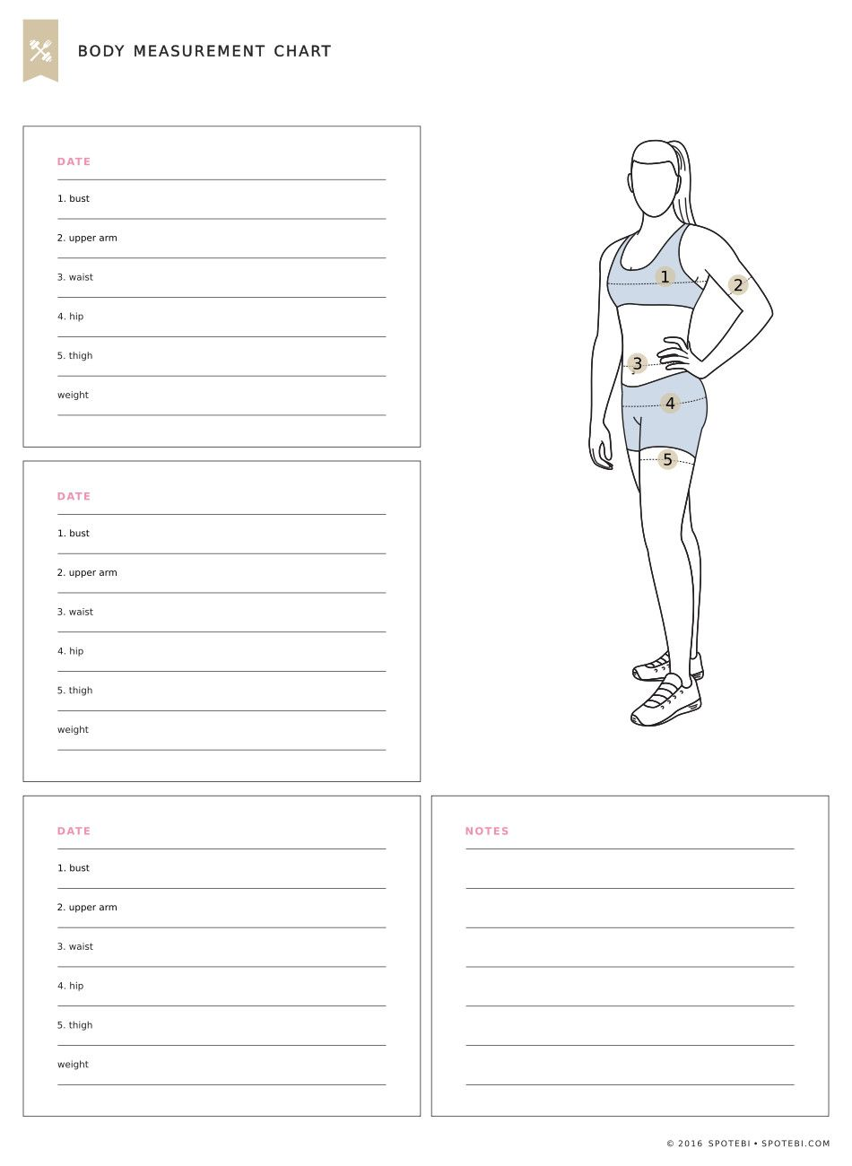 Print our free body measurement chart and measure each part every weeks get also operation fit pinterest fitness rh