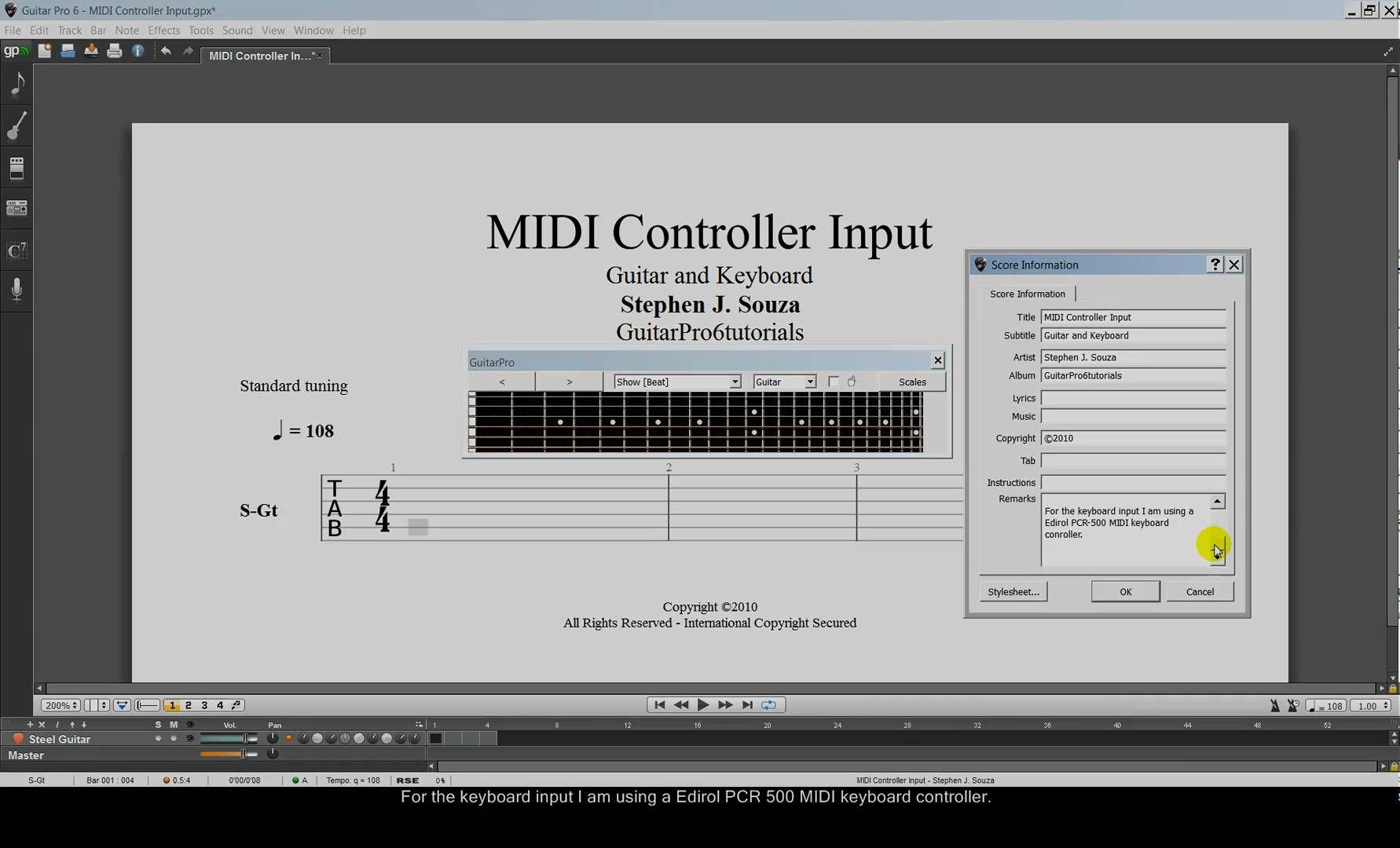 Guitar Pro 6 tutorial MIDI controller input | Software