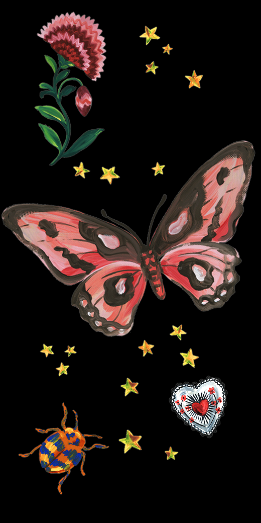 BUTTERFLY_GARDEN.png (520×1040) O color Pinterest