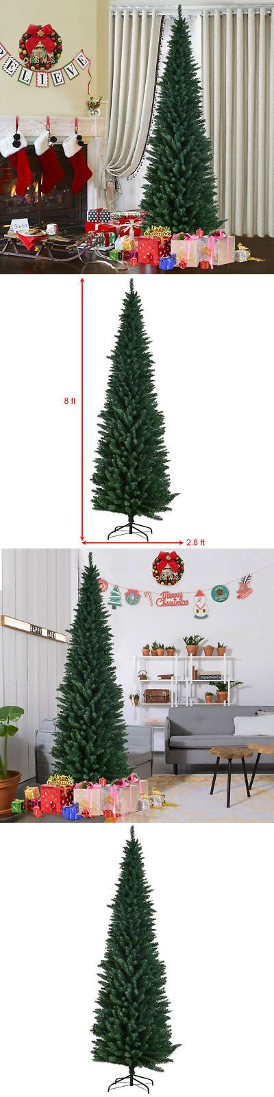Artificial Christmas Trees 117414 8Ft Pvc Artificial Slim Pencil