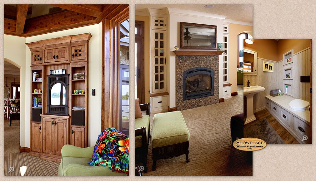 Cabinets: Showplace creative freedom extends through many rooms of this gracious home