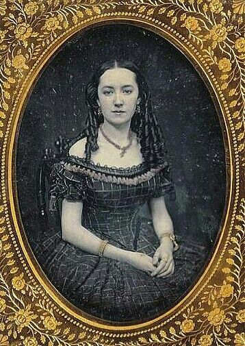 Another pretty girl in her special dress....late 1840s