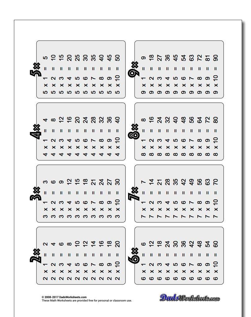 Multiplication Table For Elementary Students Https Www Dadsworksheets Com Worksheets Multi Multiplication Worksheets Math Worksheets Times Tables Worksheets [ 1025 x 810 Pixel ]