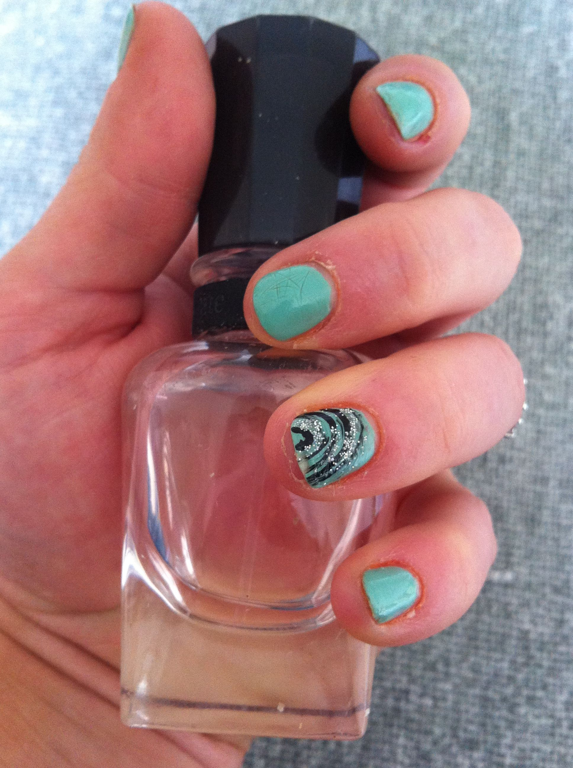 Funky nail design for short nails!