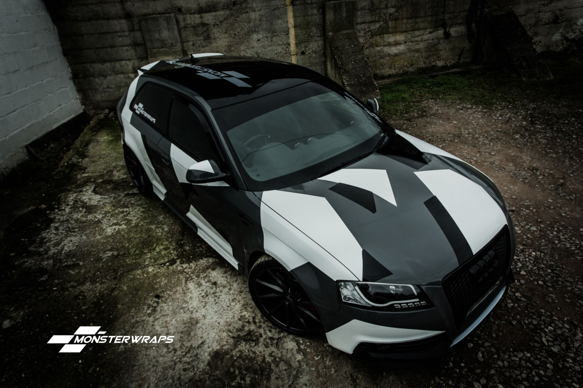 Audi r8 partial car wrapping sticker bomb stickerbomb by - Audi A3 Stealth Grey Camo Wrap Wraps Pinterest Audi A3 Audi And Cars