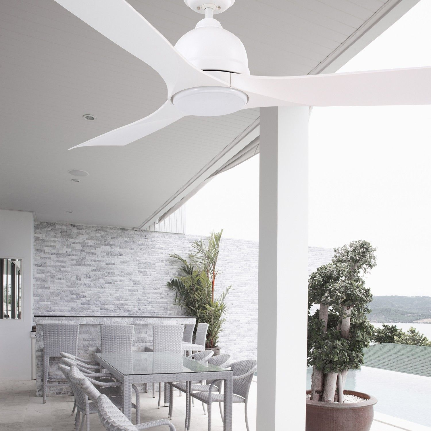 Friday favorites top 10 led ceiling fans outdoor ceiling fans bring the luxury and convenience of modern led fans outdoors with the volta 54 inch outdoor mozeypictures Gallery