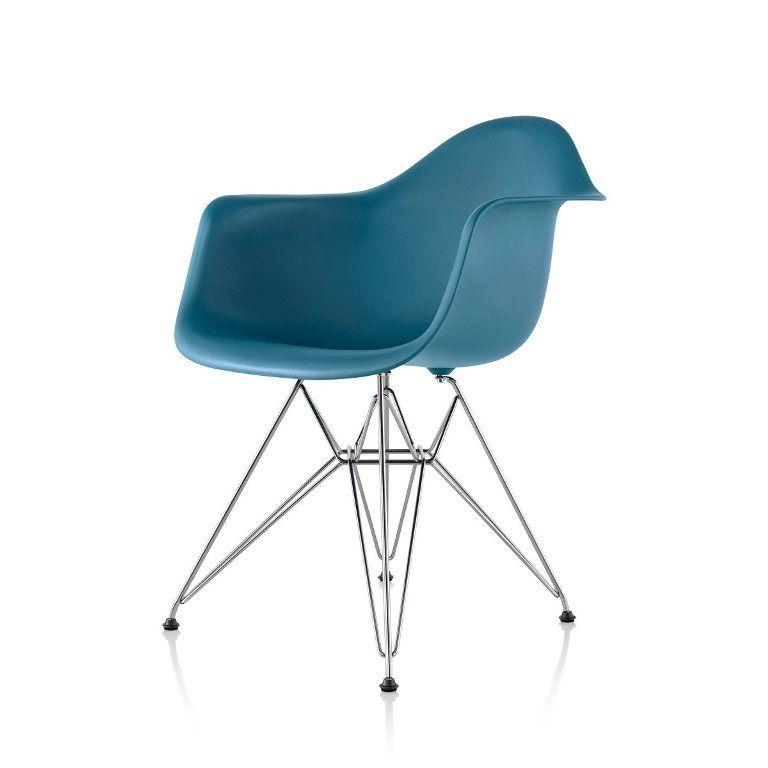 Furniture: Glamorous Eames Molded Plastic Eiffel Armchair ...