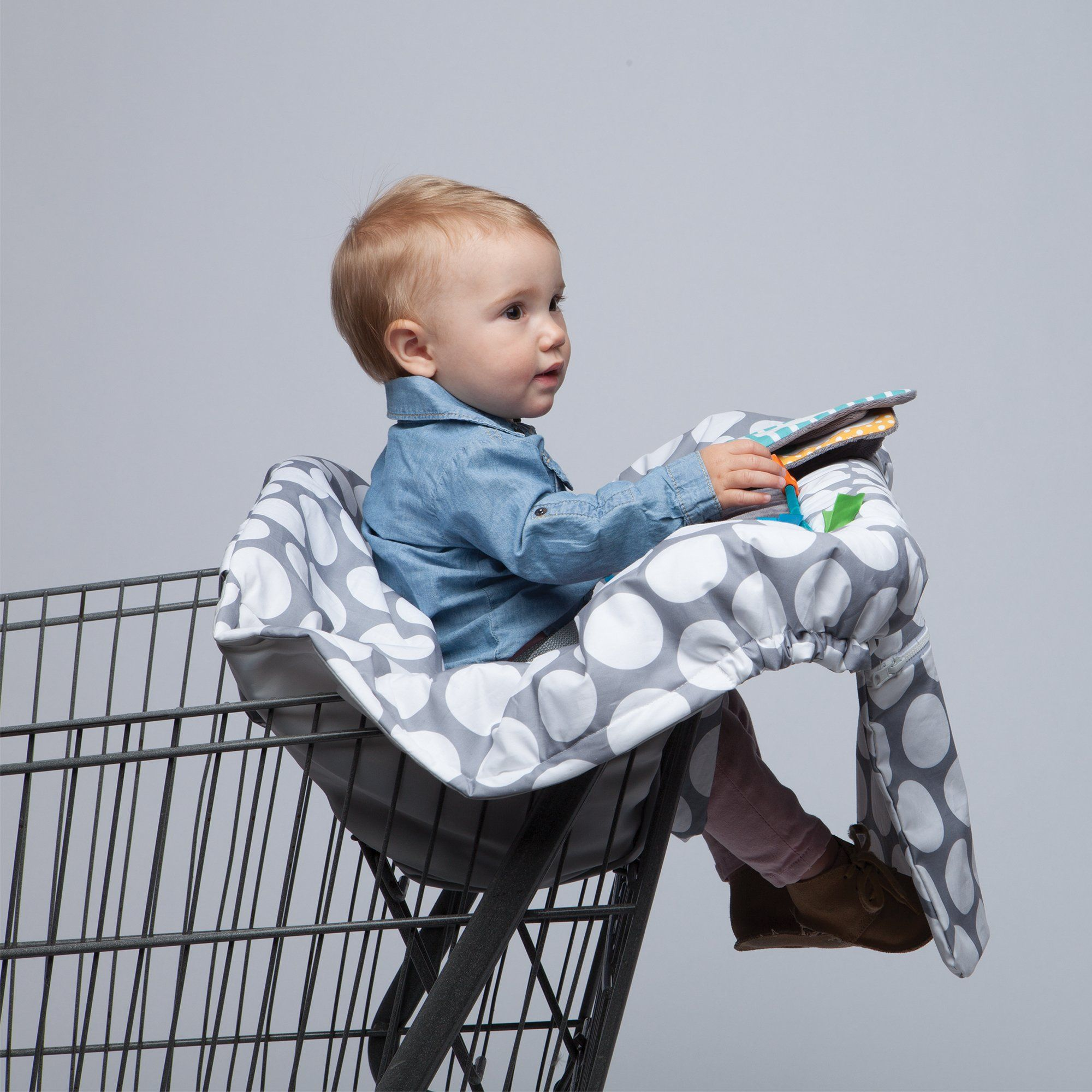 Enjoyable Boppy Luxe Jumbo Dots Shopping Cart And High Chair Cover Ocoug Best Dining Table And Chair Ideas Images Ocougorg