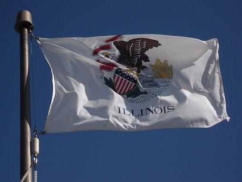 Illinois State Flag My State S Now Illinois State Illinois Flag