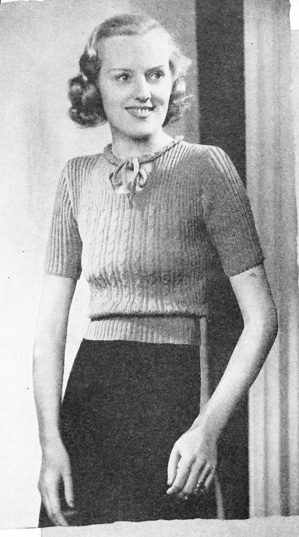 Free Vintage Knitting Pattern: Bestway Knitting 1938 A Dear Little ...