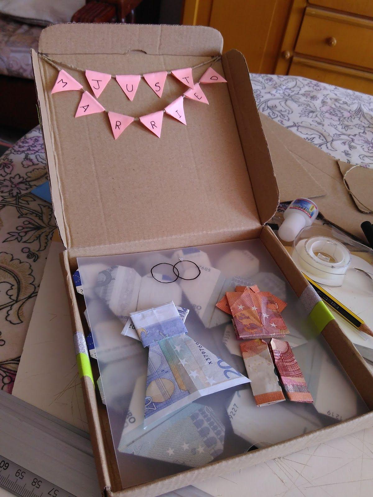 Manos inquietas c mo regalar dinero en una boda de forma original cositas pinterest diy - Ideas para regalar dinero en una boda ...